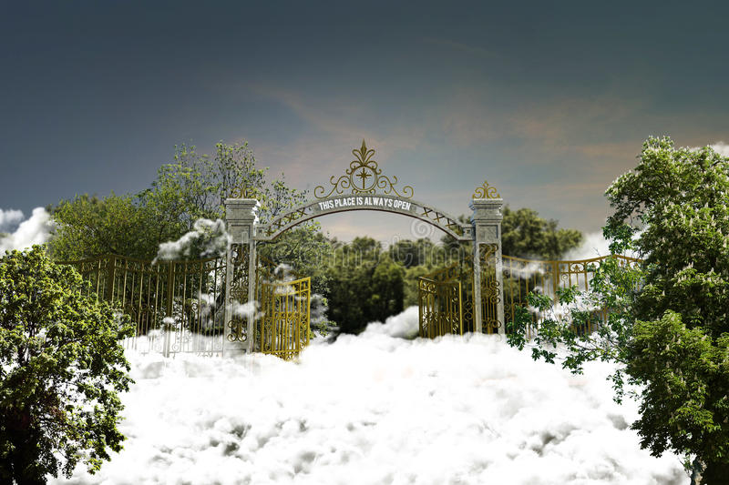 Heaven gate. 3d illustration of the heaven gate stock illustration