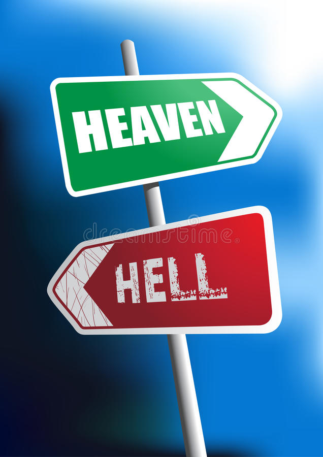 Heaven or Hell stock illustration