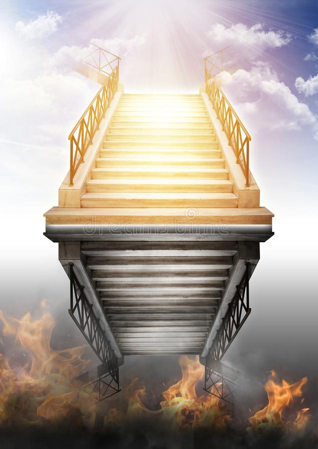 Heaven and hell royalty free stock image