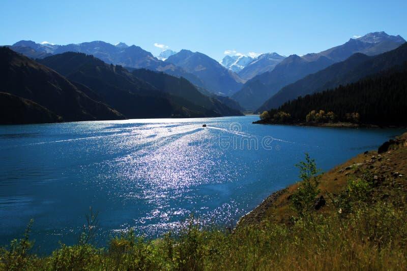 Heaven Lake stock photography