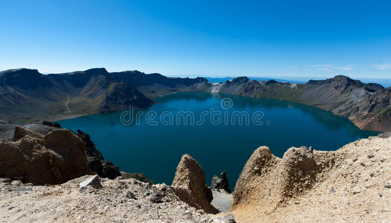 Heaven Lake of Changbaishan stock photos