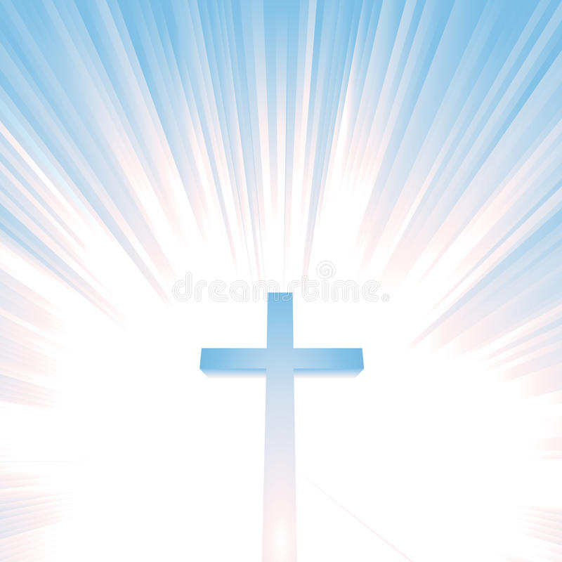 Download Heaven Light And Christian Cross Stock Illustration - Illustration of religion, sunbeams: 19837067