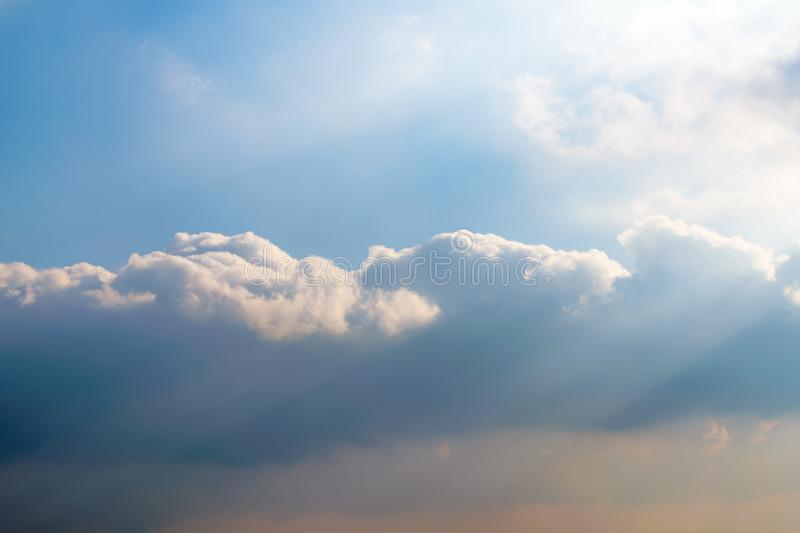 Heaven like clouds in the sky. Thick heaven like cloud formation stock photos