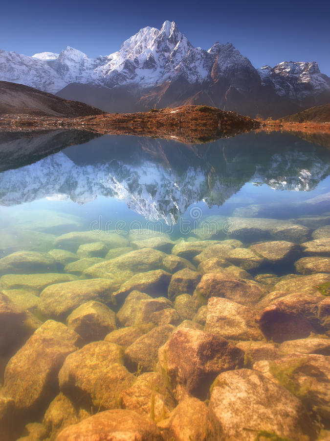 Heaven is myth, Himalayas are real royalty free stock photo