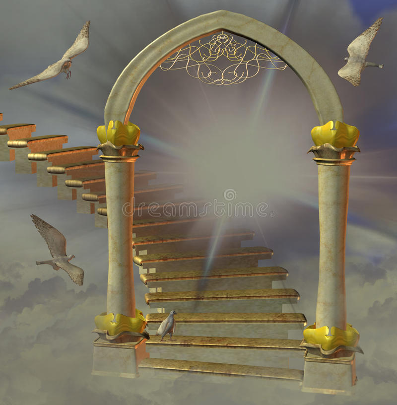 Heaven`s gate stock illustration
