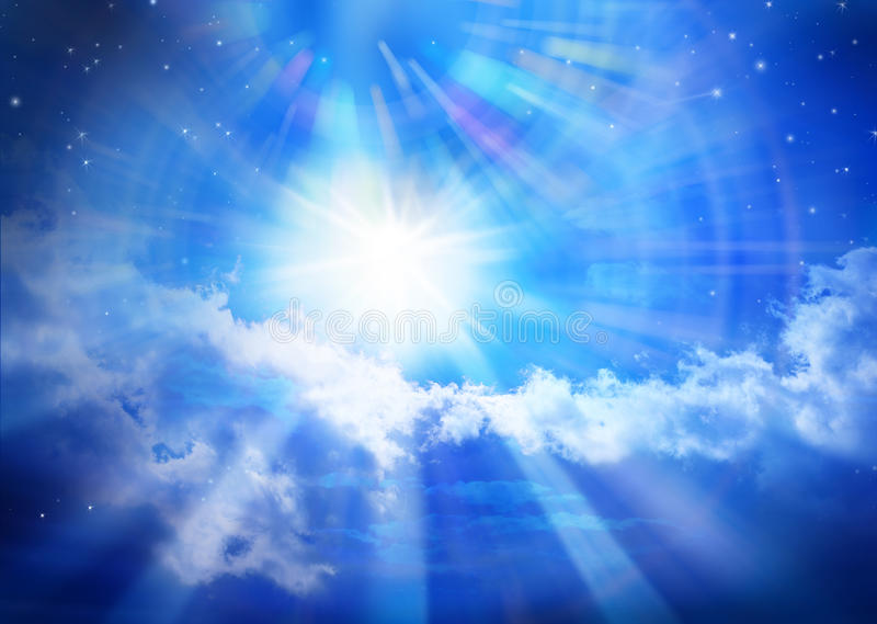 Heaven Sky Universe Sun Star Clouds Spiritual royalty free stock image
