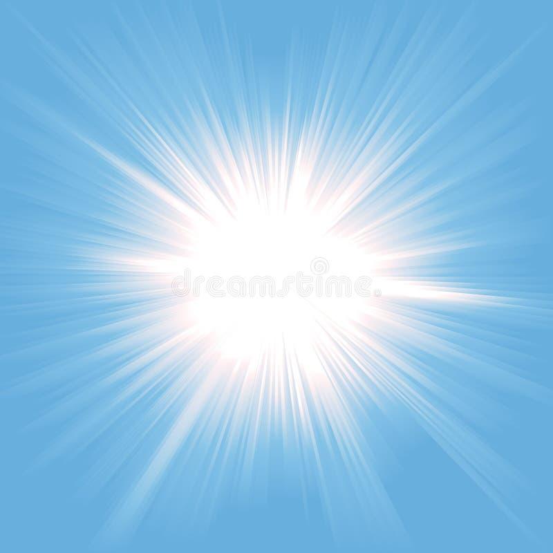 Heaven Star Burst. Illustration of a star burst symbolizing heaven, light from paradise stock illustration
