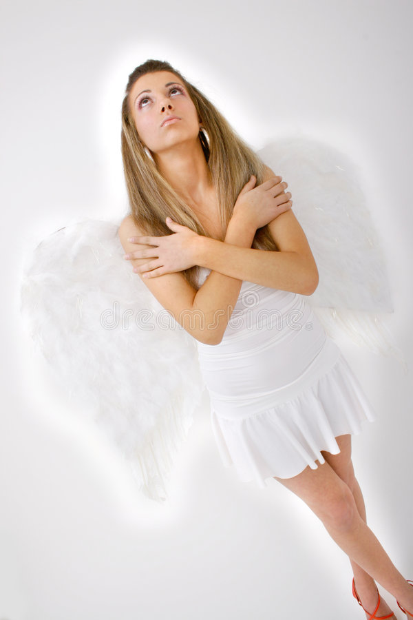Download Heavenly Angel stock photo. Image of religion, lady, white - 1420256