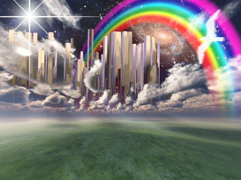 Heavenly City royalty free illustration