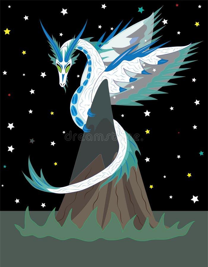 Heavenly dragon stock illustration