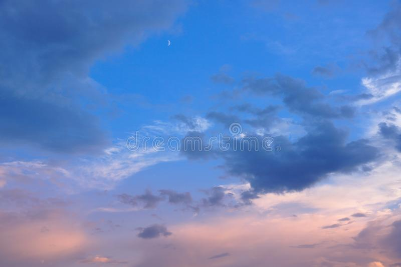 Heavenly landscape with clouds royalty free stock photo