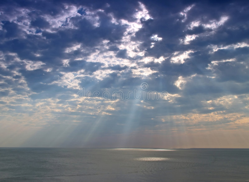 Download Heavenly light stock photo. Image of shine, horizon, sunlight - 2319728