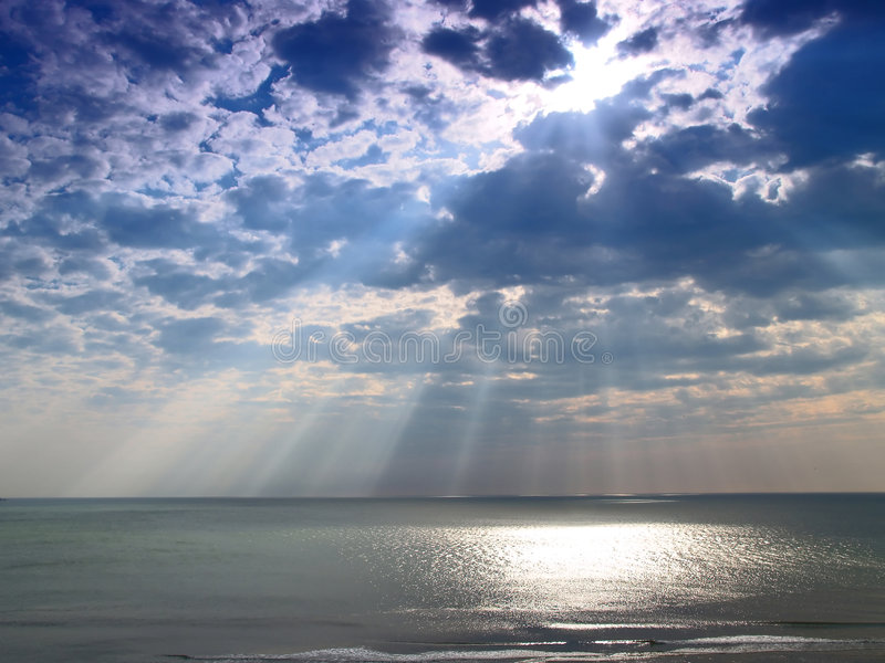 Download Heavenly light stock photo. Image of horizon, sunbeam - 2319730