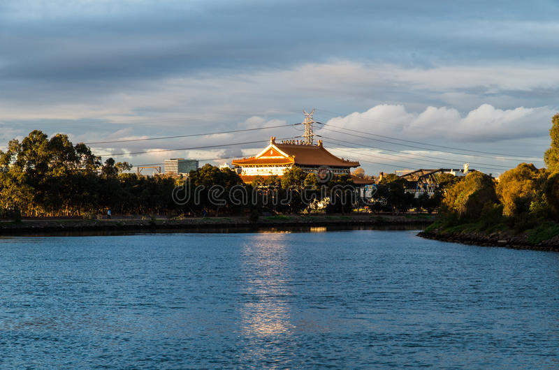 Heavenly Queen Buddhist Temple in Footscray, Australia royalty free stock image