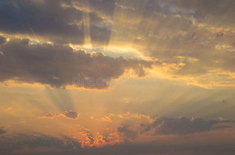 Heavenly rays stock photography