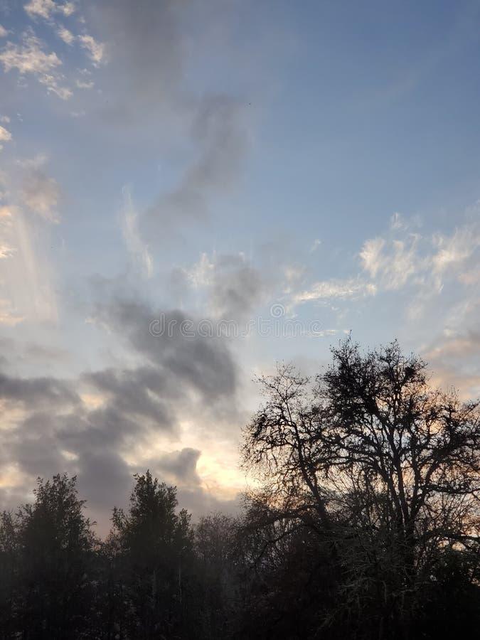 Heavenly sky arkivfoton