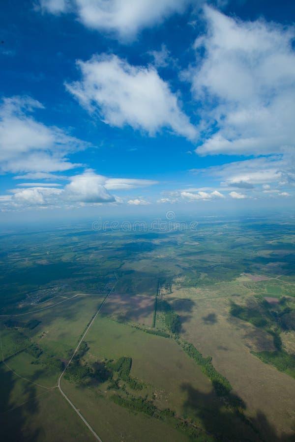heavenly väg Flyg- sikt, sikt från en stor höjd arkivfoto