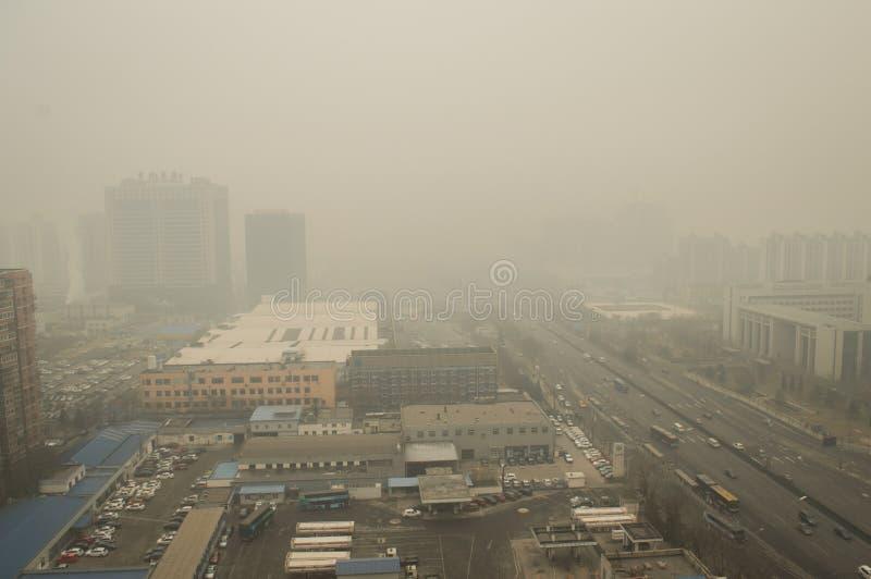 Heavier haze around Beijing stock photos