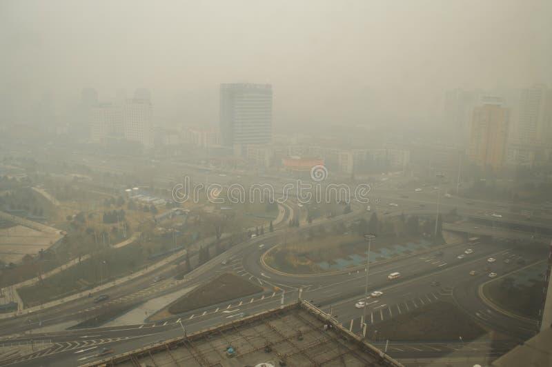 Heavier haze around Beijing 2 royalty free stock photography