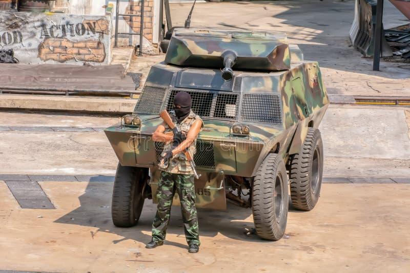 Terrorist groups royalty free stock photos