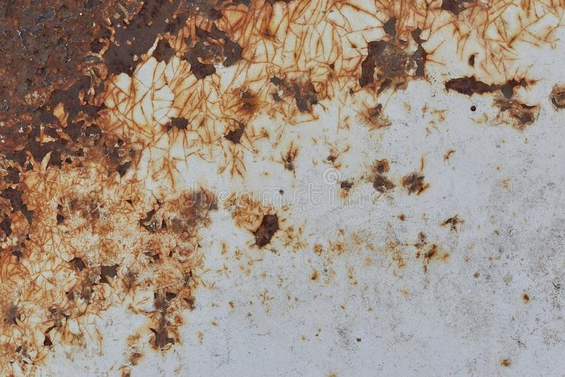 Heavily weathered metal background. Rusted iron surface with eroded old texture. Image royalty free stock photography