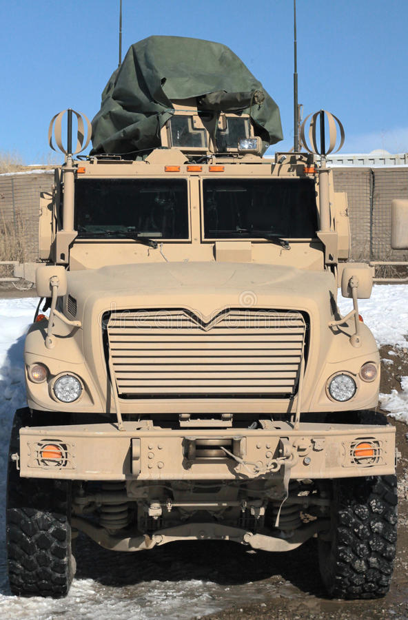 Heavy armored military vehicle in Afghanistan