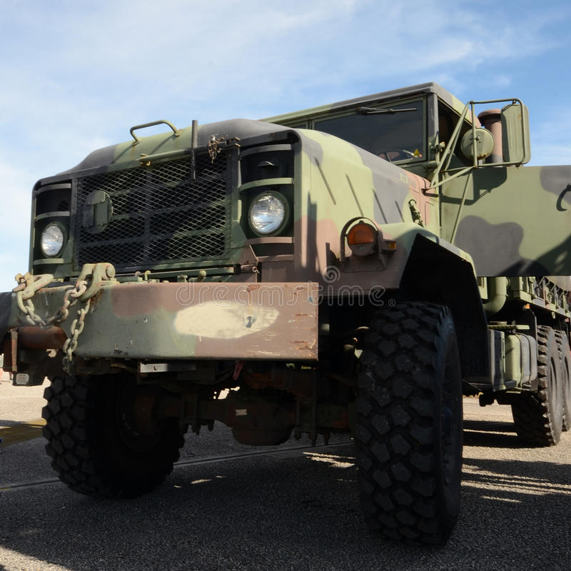 Heavy army truck stock images