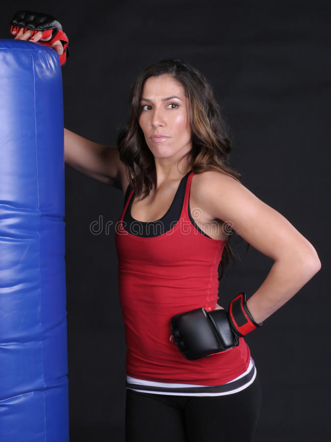Heavy Bag Attitude stock photo