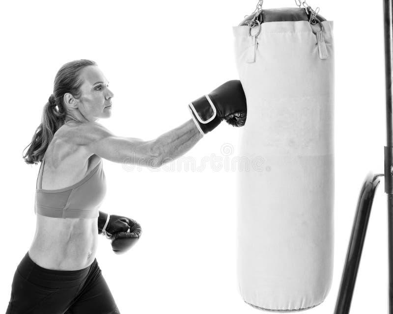 Heavy Bag Exercise stock image