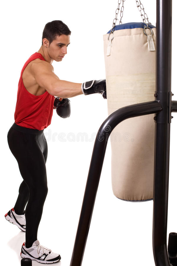 Heavy Bag Workout stock photos