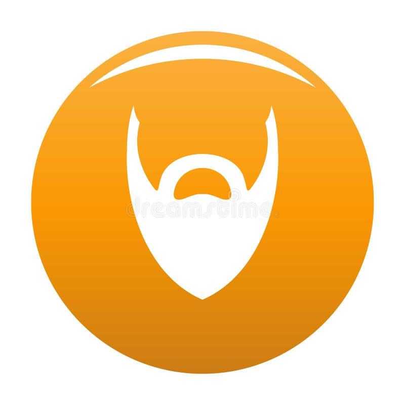 Heavy beard icon orange. Heavy beard icon. Simple illustration of heavy beard icon for any design orange vector illustration