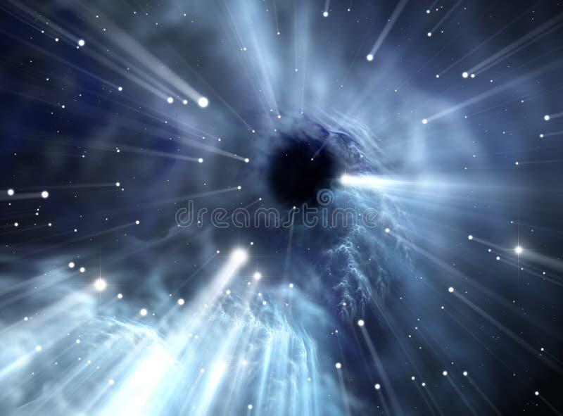 Heavy black hole. royalty free illustration