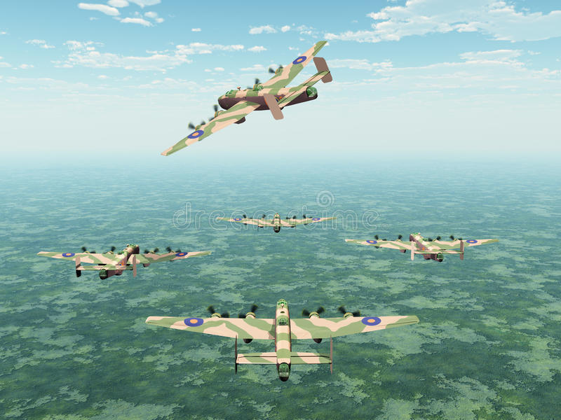 Download Heavy Bomber Halifax stock illustration. Image of second - 31821226