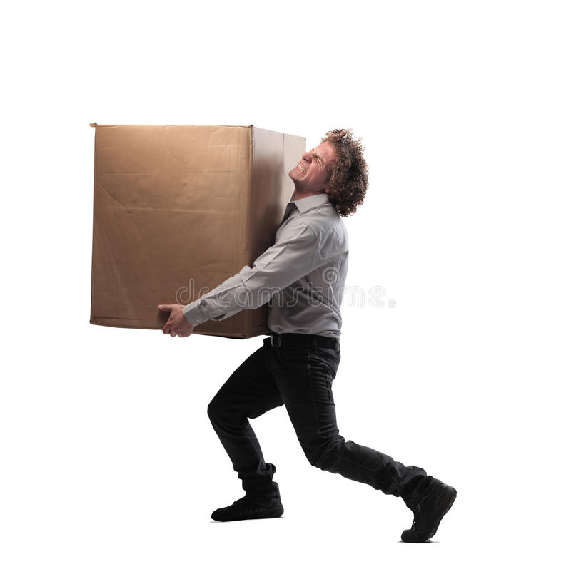 Heavy Box stock image