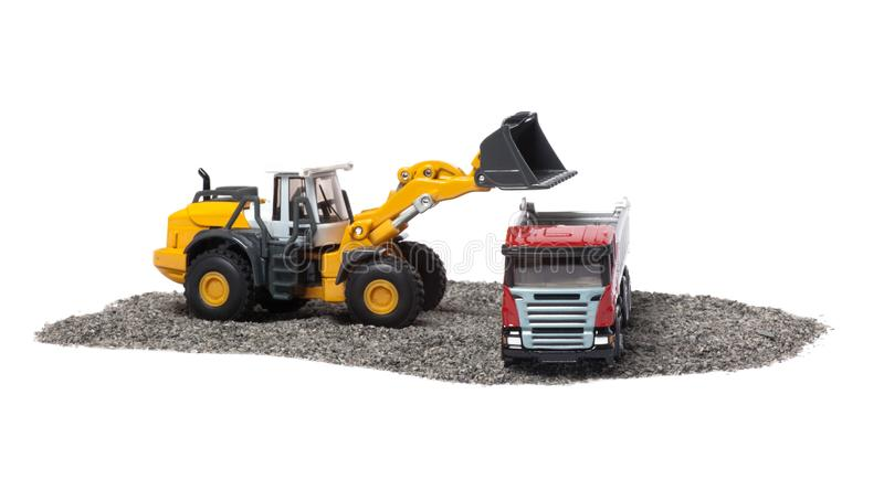 Download The Heavy Bulldozer And Heavy Truck Stock Photo - Image of orange, garbage: 19133934