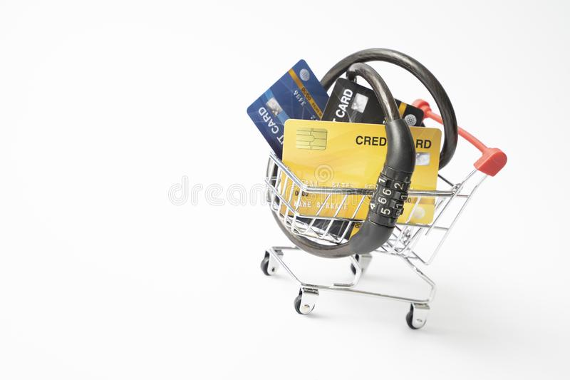 Heavy burdens from using multiple credit cards/Burden from credit card/Credit card debt/Unsecured consumer debt concept.Concept of. Debt burden from credit royalty free stock photography