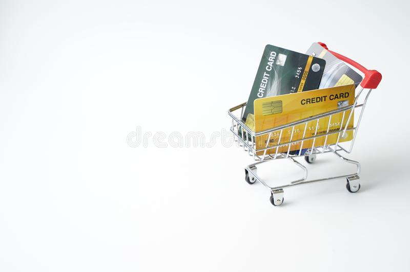 Heavy burdens from using multiple credit cards/Burden from credit card/Credit card debt/Unsecured consumer debt concept. Background, bank, banking, bankruptcy stock photography
