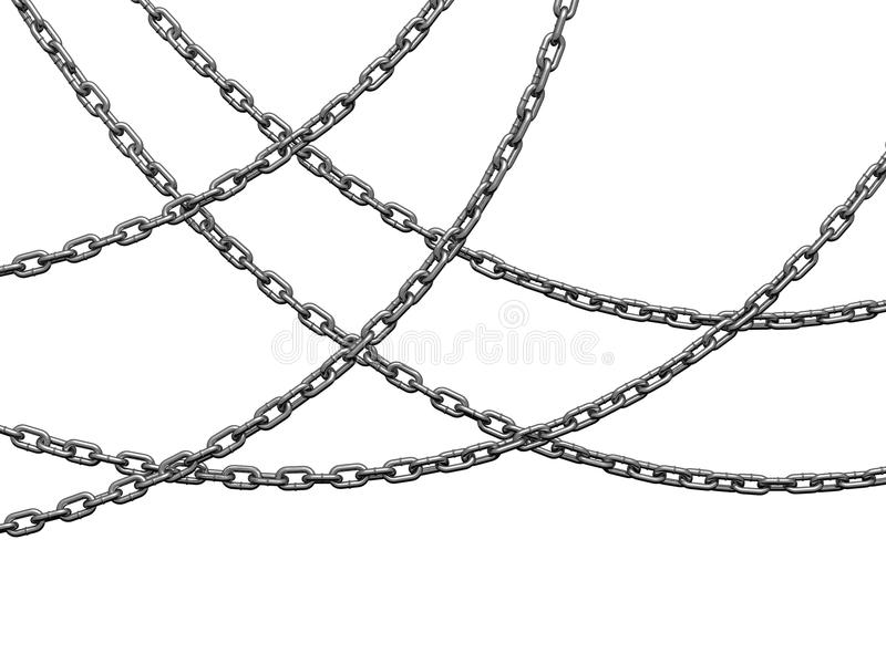 Download Heavy chains hang curved stock illustration. Image of grey - 11005521