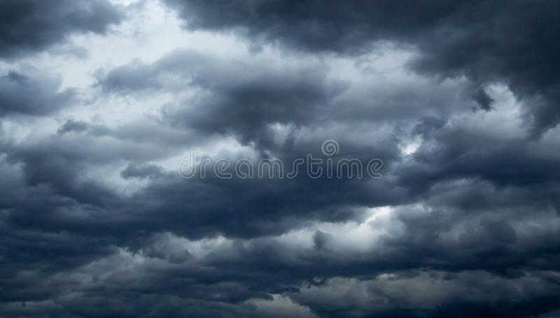 Heavy clouds before the storm royalty free stock photography