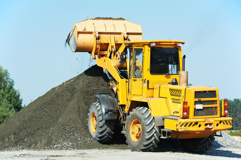 Heavy construction loader royalty free stock images