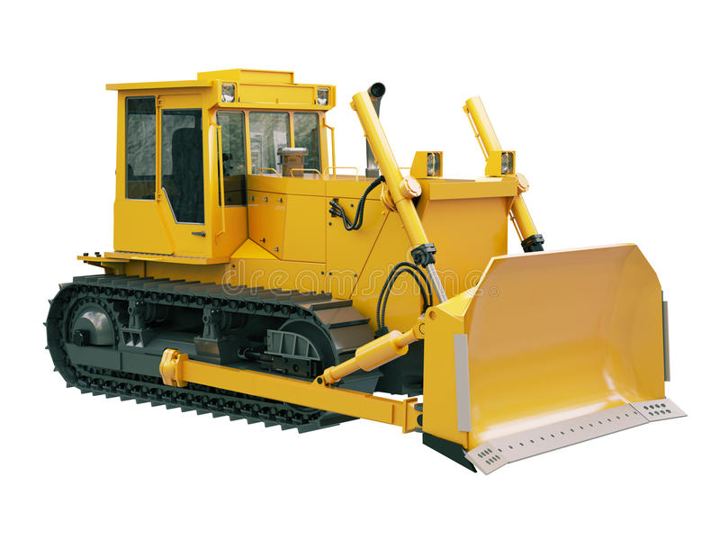 Download Heavy Crawler Bulldozer  Isolated Stock Illustration - Image: 33212409