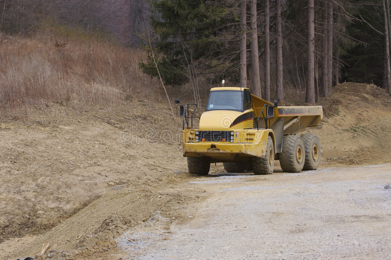 Download Heavy Dump Truck With Copy Space Stock Image - Image: 713227