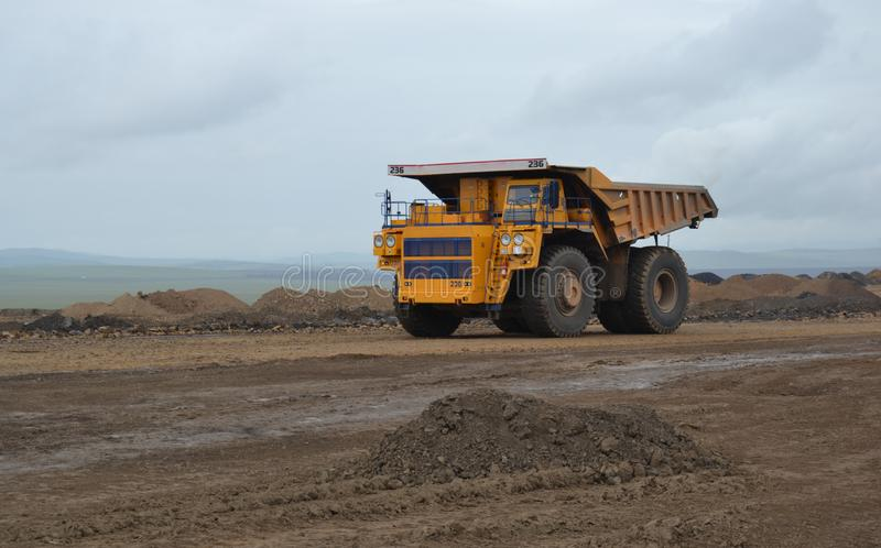 Heavy dump truck royalty free stock photos