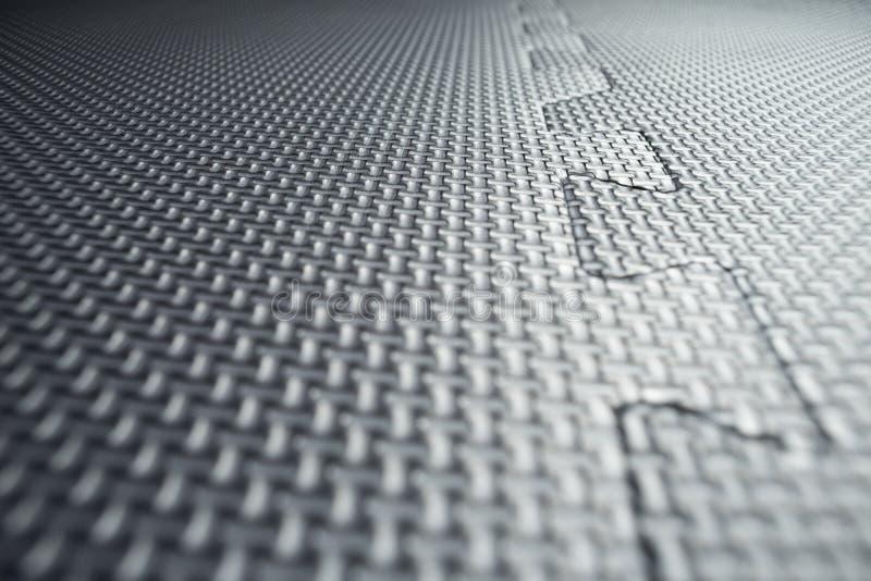 Download Heavy Duty Black Rubber Flooring Tiles Inside A Garage Stock Photo - Image of dimples, foam: 107589706