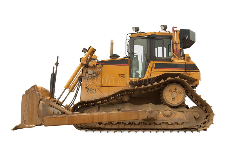 Heavy duty bulldozer stock image