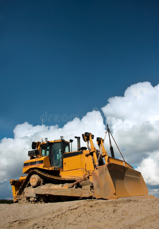 Download Heavy Duty Bulldozer At Work Stock Image - Image: 1244497