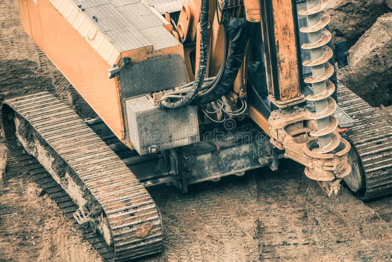 Heavy Duty Drilling Machinery stock photo