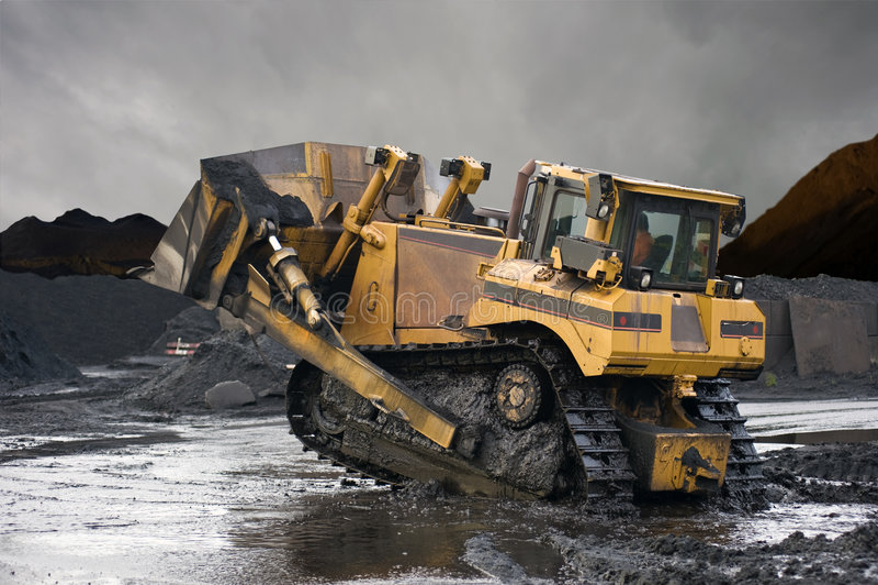 Heavy Duty Mining Shovel stock image