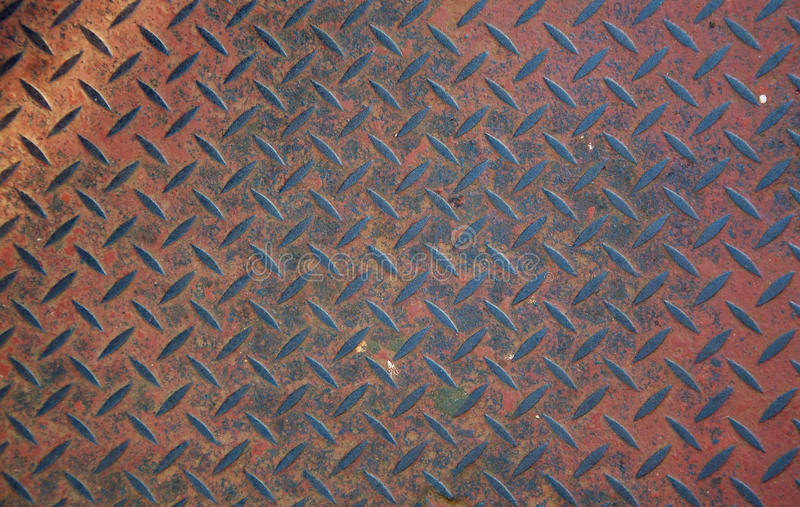 Heavy duty rusty non slip metal plate royalty free stock images