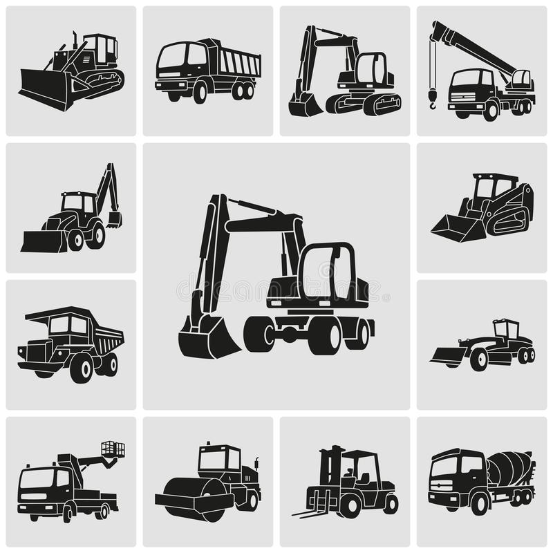 Free Heavy Equipment And Machinery Icons Set Royalty Free Stock Images - 105486769